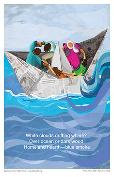 White Clouds Drifting Where #clouds #ocean #boat #art #paperboat #poster #posterproject #syracuse #syracuseny