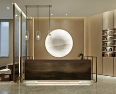 HPID:华润北京丽都悦府售楼处设计 - 设计腕儿【腕儿案例】 Lobby Reception, Reception Table, Japanese Restaurant Interior, Office Reception Design, Beauty Salon Design, Lobby Design, Hospitality Design, Commercial Design, Store Design