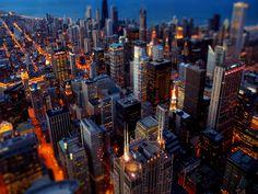 Chicago at night..