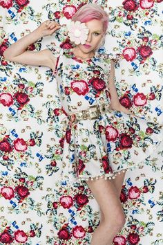 ❀ Flower Maiden Fantasy ❀ beautiful art fashion photography of women and flowers - Tetris Pom Pom Dress