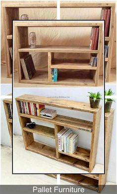 scrap wood pallet projects you can easily build Wood Design Diy Pallet Projects Build Design easily Palle Pallet Projects Scrap Wood Scrap Wood Projects, Diy Pallet Projects, Pallet Ideas, Wood Ideas, Diy Bookshelf Design, Bookshelf Ideas, Palette Bookshelf, Bookshelf Storage, Pallet Crafts