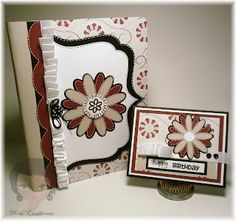 Altered Comp book and matching card for Joys Life DT