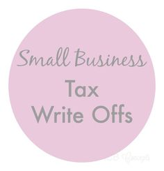 Small Business Tax Write Offs via blogICB business tips #succeed #business