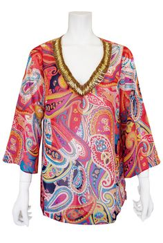 Floral Print Tunic (Red)   Cherry Ann Online Shop Cherry Ann, Floral Prints, Tunic, Blouses, Red, Shopping, Tops, Women, Fashion