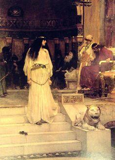 Mariamne Leaving the Judgement Seat of Herod  John William Waterhouse  1887  Oil on canvas