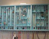 Jewelry Display - Printer drawer Bohemian Chic