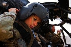 Lacey Smith Prepping for Blackhawk Helo Flight