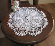 Elegant Crochet Lace Doily Modern Home by DoliaGalinaCrochet