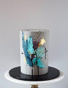 Beautiful Cake Designs, Beautiful Cakes, Amazing Cakes, Cupcakes, Cupcake Cakes, Concrete Cake, Unique Birthday Cakes, Fathers Day Cake, Modern Cakes