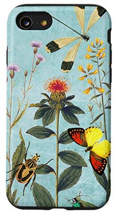 iPhone SE (2020) / 7 / 8 Summer in the Wildflower Garden Case Wildflowers Nature Lover Buy Iphone, Iphone Se, Amazon Merch, Sell On Amazon, Wildflowers, Vintage Images, Protective Cases, This Or That Questions, Garden