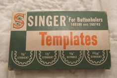 Antique Singer Buttonhole Templates also will work by rarefinds4u $12.50
