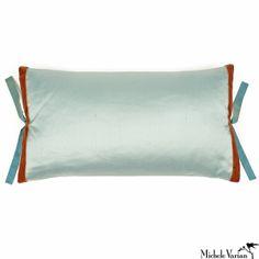 Sofa Pillow:  Silk Dupioni Pillow Robins Egg 12x22