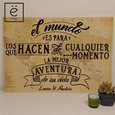 Cartel de bienvenida personalizado temática viajes #cartelbienvenida #cartel #welcome #sign #wedding #boda #casamiento #viajes Phrase Of The Day, Travel Cards, Travel Themes, Open House, Party Time, Wedding Photos, Wedding Planning, Wedding Decorations, Lettering
