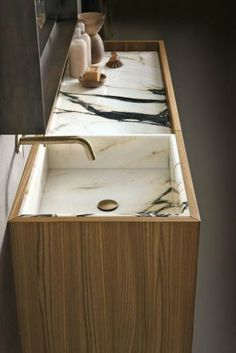 Home Decorating Ideas Bathroom I love this marble sink! Home Decorating Ideas Bathroom Source : I love this marble sink! by zievee Share Bad Inspiration, Bathroom Inspiration, Interior Inspiration, Bathroom Furniture, Bathroom Interior, Vanity Bathroom, Master Bathroom, Bathroom Marble, Budget Bathroom