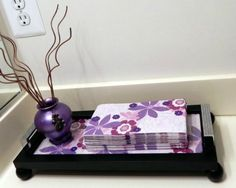 Hand Towel Tray from Picture Frame