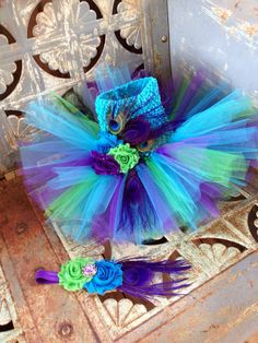 Peacock Costume by TwoGirlsBowCreations on Etsy, $40.00