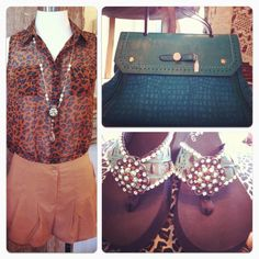 Teal Leopard and Cowgirl Envy Flip Flops