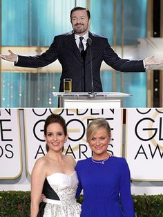 Who Said It, Globes Edition: Ricky Gervais or Tina & Amy? - Ricky Gervais is back to emcee this Sunday's Golden Globes—but is he really the award show's most controversial host? We've rounded up the most cutting one-liners from the past six years for a rollicking round of Who Said It? - FLARE