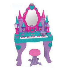 Disney Princess Piano Keyboard Vanity Salon Enchanted