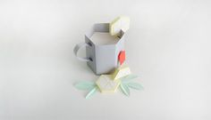 Paper Food by Charlotte Smith, via Behance