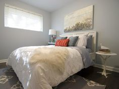 Income Property: Contemporary bedroom for renters.