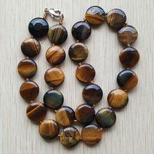 2017 new fashion hot selling good quality natural tiger eye stone round shape beads pendants necklace