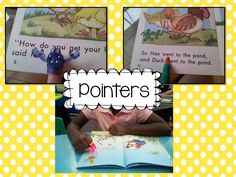 The kids LOVE to read with pointers! Really helpful for those Littles who are beginning readers...they all LOVE pointers! I use a variety of pointers but their favorite are the finger lights that you see in the bottom picture.They go crazy over these! They are available on Amazon for less than $1.00 You can click on the image to check them out.