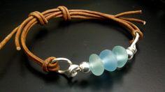 Sea Glass Bracelet Sea Glass Jewelry by JulieAndersonDesign, $59.00