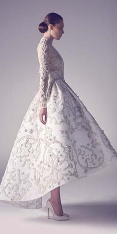 24 Chic Long Sleeved Wedding Dresses ❤ See more…