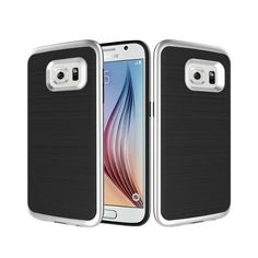 galaxy s7 case , UBWH slim double damping cover phone shell brushed metal texture suitable for samsung galaxy s7 (Silver) -- Awesome products selected by Anna Churchill