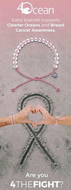 With each bracelet you purchase, we will remove one pound of trash from the ocean and donate 10% of the net profits to Breast Cancer Research. Our bracelet is made from 100% recycled materials. The beads are made from recycled glass bottles & the cord is made from recycled plastic water bottles. Our limited edition pink bracelet shows your commitment to cleaner oceans and joining the fight against breast cancer.
