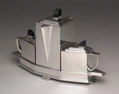 Jean G. Theobald, American, active 1920s – 1930s    Diament dinette set, 1928  Silverplate, Bakelite