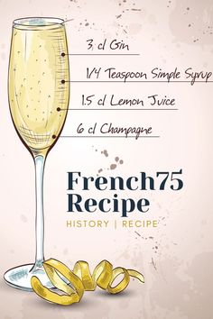 Champagne Drinks, Wine Cocktails, Cocktail Drinks, Aperitif Drinks, Classic Gin Cocktails, Gin Recipes, Gin Cocktail Recipes, Alcohol Drink Recipes, French 75 Drink