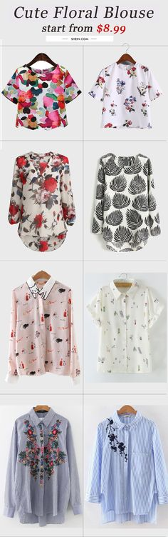 Cute floral blouse top collection. Start from $8.9 with 40% off 1st order!
