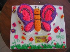 Summer Butterflies I used spaghetti to make the antenna's and covered it in buttercream. I used sparkles on the body of the butterfly...