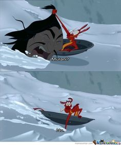 In Mulan, when Mushu accidentally found a Hun in the avalanche: 50 Forgotten Disney Moments That'll Make You Laugh Every Time Walt Disney, Disney Magic, Funny Disney Memes, Disney Jokes, Disney Funny Moments, Disney And Dreamworks, Disney Pixar, Film D'animation, Dc Memes