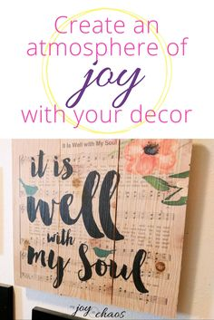 Chooose home decor that points you to the source of joy - Jesus | wall decor | home decor | interior decorating | wall planks | DaySpring Sale | gallery wall