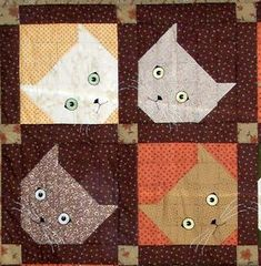 Hey Mom- take a look at the quilt block. Wouldn't G love this? Curious Cats