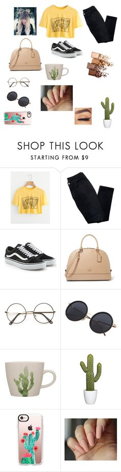 """""""Cactus and yellow"""" by kennedysmith-iv ❤ liked on Polyvore featuring Avon, Vans, Casetify and Maybelline"""