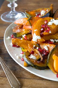 Roasted Pumpkin and Squash with Ricotta Salata and Pomegranate