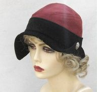 Red and Black Suede Flapper Hat by Vintage Style Hats by Gail, via Flickr