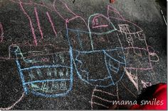 sidewalk chalk house plans and other chalk fun for Littles  :-)