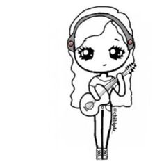 Music Chibi  Sketches    Muziek En Chibi