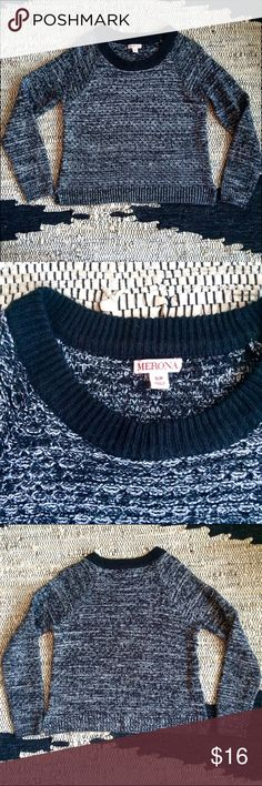 Black and White Knit Sweater Very warm great quality sweater Merona Sweaters
