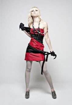 previously:  satin a-line bridesmaid's skirt.