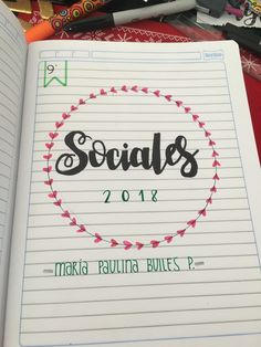 cuadernos Bullet Journal Mood, Bullet Journal Ideas Pages, Journal Pages, School Notebooks, Cute Notebooks, Notebook Art, Notebook Covers, Hand Lettering Fonts, Lettering Tutorial
