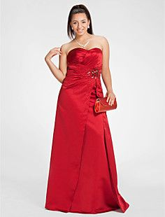 Sheath/Column Sweetheart Floor-length Satin Evening/Prom Dre... – USD $ 149.99