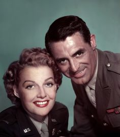 Ann Sheridan and Cary Grant