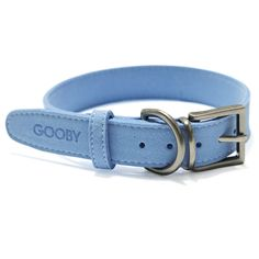 Soft Luxury Dog Collar by Gooby - Blue at BaxterBoo