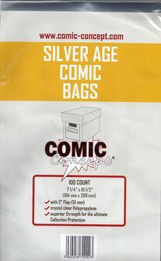 Comic Concept Silver Age Size Bags, Hüllen mit Lasche, 100 Stück: Amazon.de: Spielzeug